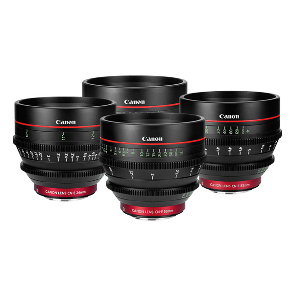 Canon Cinema Prime (CNE) Lens Kit